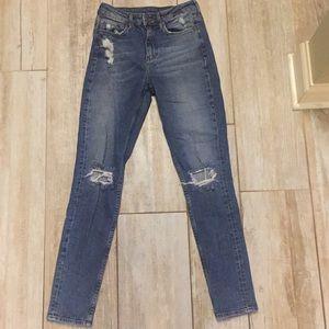 H&M high waist skinny jeans size 25